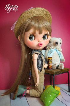 PJdolls177BONNIE Custom Blythe Doll/OOAK handmade Blythe