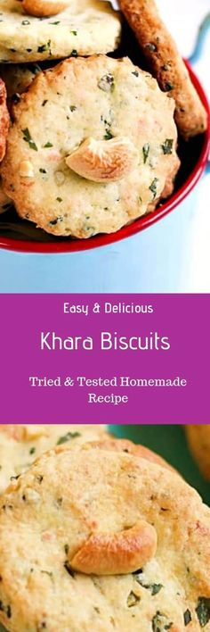 Khara biscuits recipe with step by step photos. learn how to make iyengar bakery style crispy, flaky and buttery cookies with this easy recipe Indian Food Recipes, Real Food Recipes, Vegetarian Recipes, Cooking Recipes, Healthy Recipes, Ethnic Recipes, Eggless Biscotti Recipe, Easy Snacks, Easy Meals