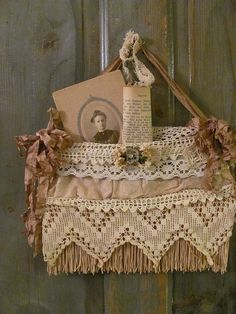 Lovely suitcase pocket by sweet Ann Perry of Tin Rabbit blog.
