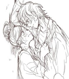 Anime Couples Drawings, Couple Drawings, Cute Anime Couples, Manga Drawing, Manga Art, Manga Anime, Honey Works, Manga Couple, Kawaii