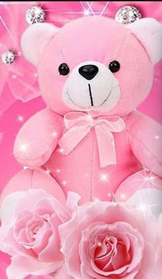 Cute Teddy Bear Pics, Teddy Bear Pictures, Durga Puja Wallpaper, Teddy Day Images, Panda Party, Everything Pink, Pretty Wallpapers, Beautiful Roses, Bts Wallpaper