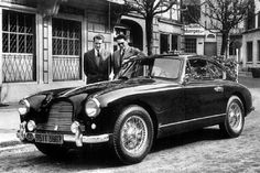 Aston Martin DB2/4. The late King Boudewijn (with sunglasses) of the Belgians and his younger brother, Prince Albert, who is the actual King Albert II of the Belgians, near Boudewijns Aston Martin. The car is sold in an auction for 333.500 euro.
