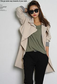 Today's Hot Pick :Double Breasted Coat with Belt http://fashionstylep.com/SFSELFAA0001657/happy745kren/out High quality Korean fashion direct from our design studio in South Korea! We offer competitive pricing and guaranteed quality products. If you have any questions about sizing feel free to contact us any time and we can provide detailed measurements.