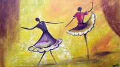 Magical Dancing Girls acrylic EASY tutorial
