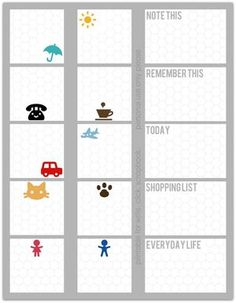 Free printables - write.click.scrapbook I like the shopping list. Would be fun to include an errand list in smash book