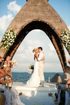 Dreams Riviera Cancun Resort & Spa Wedding by Emily Snitzer Photography  Read more - http://www.stylemepretty.com/destination-weddings/2012/06/22/dreams-riviera-cancun-resort-spa-wedding-by-emily-snitzer-photography/