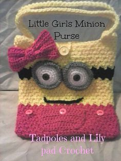 Crochet minion purse crochet pattern