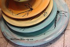 Hey, I found this really awesome Etsy listing at http://www.etsy.com/listing/150103898/design-your-own-dinner-plates-choose