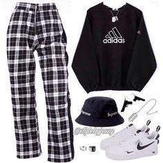cute outfits to wear Kpop Fashion Outfits, Edgy Outfits, Swag Outfits, Mode Outfits, Retro Outfits, Grunge Outfits, Vintage Outfits, Girl Outfits, Mode Kpop