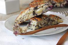 Brombær scones m. hvid chokolade