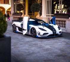The Koenigsegg Agera unveiled at the 2011 Geneva Motor Show by the Swedish car manufacturer. The car is one of the fastest production cars in the world. Koenigsegg, Exotic Sports Cars, Exotic Cars, Fancy Cars, Cool Cars, My Dream Car, Dream Cars, Maserati, Ferrari 458