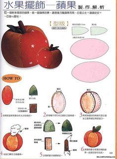 Moldes Para Artesanato em Tecido: Molde Frutas e Legumes