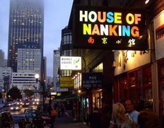 House of Nanking, San Francisco. Possibly the best chinese food I've ever eaten.