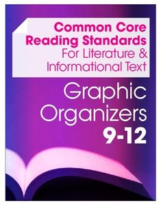 Now designed to be used with both Informational Texts and Literature, this set includes a variety of graphic organizers, standard overviews and classroom handouts to meet all the Common Core Standards for Reading at the high school level. $