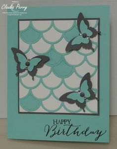 Stampin' Up!, Striped Scallop Thinlit, Butterfly Basics
