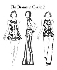 The Four Principles of Dress: Fabric, Line, Ornament  Focal Point.
