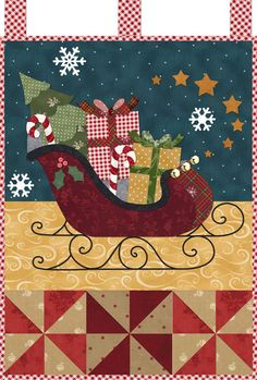SANTA'S SLEIGH Little Blessings Shabby Fabrics Quilting Pattern CHRISTMAS #ShabbyFabrics