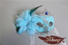 Feather Mask 26 by FukangFeather on Etsy