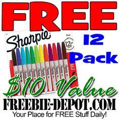 ►► W O W ► FREE 12 Pack of Sharpie Markers - Exp 12/12/16 ►► #Free, #FreeAfterRebate, #FREEStuff, #FREEbate, #Freebie, #Frugal, #Sharpies ►►