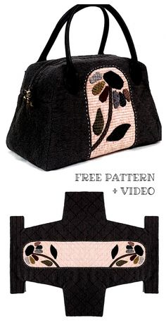 Bag Patterns To Sew, Sewing Patterns Free, Free Sewing, Unique Tattoos, Small Tattoos, Quilted Bag, Machine Quilting, Fabric Crafts, Videos
