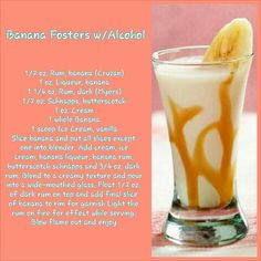 Banana Fosters cocktail