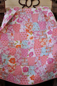 Baby Toddler Children Lap Quilt Blanket Mod Shabby by biggiwink