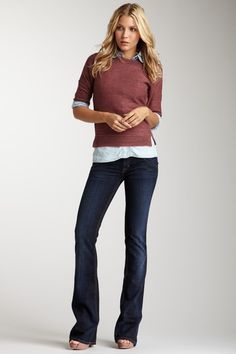 Signature Supermodel Bootcut Jean by HUDSON on @HauteLook
