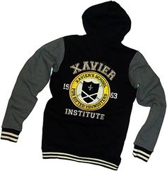 Xavier Institute -- X-Men Zipper-Fleece Hooded Varsity Letterman Jacket, Large Marvel Comics http://www.amazon.fr/dp/B00OTQ3NAA/ref=cm_sw_r_pi_dp_DQ0yvb0XF3DN9