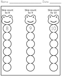 Skip Count 8-10 Worksheet - Great for #classicalconversations practice work!