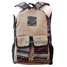 Women Canvas Backpack Rucksack Tribal Ethnic School Bag College Student Satchel