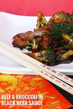 Beef & broccoli in black bean sauce is a great recipe to make for Chinese New Year. It's quick and easy to cook, and tastes delicious too. Uk Recipes, Meat Recipes, Easy Dinner Recipes, Asian Recipes, Easy Meals, Chinese Recipes, Chinese Food, Healthy Recipes, Beef In Black Bean Sauce
