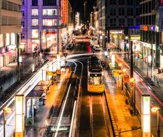 ღღ Berlin, Friedrichstraße    (by Jean Claude  Castor, via 500px)