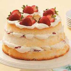 Strawberry-Banana Angel Torte Recipe