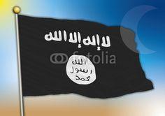 isis flag on fotolia