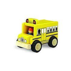 Mini Skolebus i træ. Forhandler af Wonderworld | Legebutikken.dk