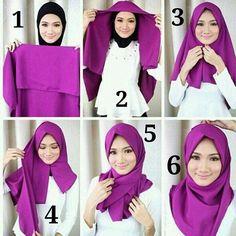 Beautiful Violet Hijab Tutorial