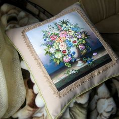 "Gallery.ru / ""Цветов душистых аромат..."" - ""Подушка — подружка под ушко"" - mihailova-galya"
