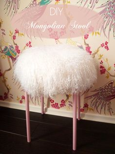 Preciously Me blog : DIY mongolian stool | Vanity Stool idea!!