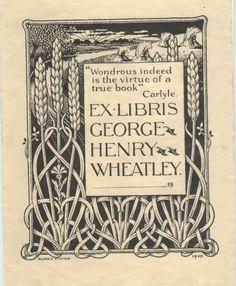 art nouveau, grass/wheat