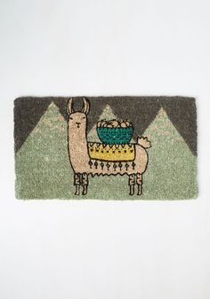 Llama, I'm Coming Home Doormat. Turn a return to your flat into a true treat by introducing this coir mat to your entryway! #multi #modcloth