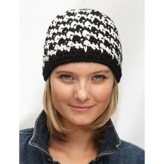 Houndstooth Hat: Free crochet pattern