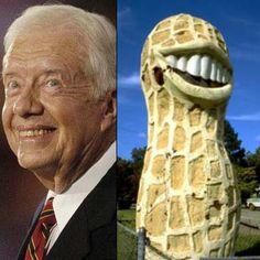Former Presidents represent! Jimmy Carter, Former President, Almost Always, Celebrities, Presidents, Fun, Image, Celebs, Celebrity