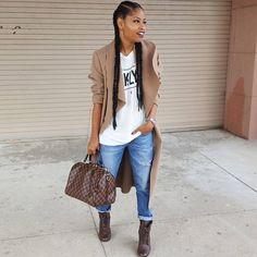 *I was planning to get some yaki braids to do cornrows like this for my daughter* Tomboy Fashion, Fashion Killa, Fashion Outfits, Fashion Trends, Dope Fashion, Fashion Addict, Urban Fashion, Fashion Styles, Fashion Ideas