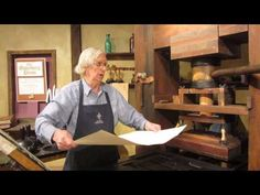 How a Gutenberg printing press works - great video!