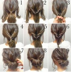 Create a simple updo with a few inside-out ponytails.