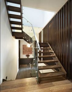 Steel Stair with Glass Balustrade