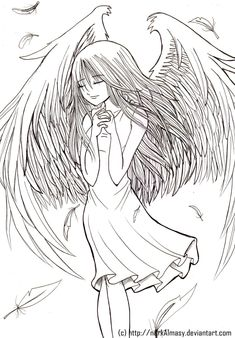 fairy angels to color and print - Yahoo Image Search Results Angel Coloring Pages, Printable Coloring Pages, Colouring Pages, Adult Coloring Pages, Coloring Books, Violet Evergarden Anime, Ange Demon, Art Anime, Copics