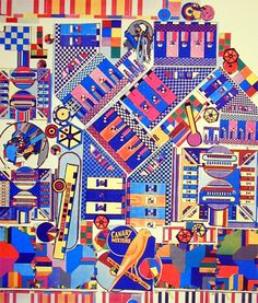 eduardo paolozzi- i like this image because its bright and colourful, there is alot going on so you are constantly engaged and finding new aspects to the image Illustrations, Illustration Art, Eduardo Paolozzi, James Rosenquist, Art Thou, Contemporary Artwork, Claes Oldenburg, Andy Warhol, Jasper Johns