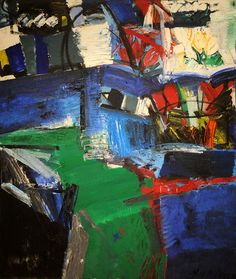 "Grace Hartigan - ""Shinnecock Canal"" (1957). #art #abstract #expressionism"