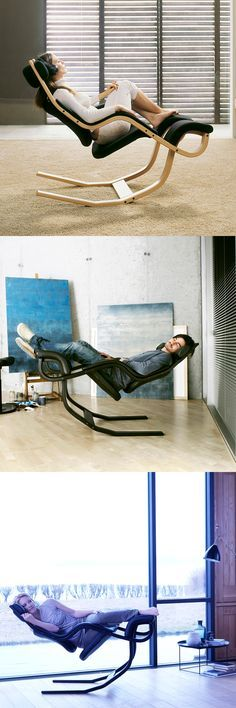 Varier Human Instruments Gravity Chair. Lounging on a whole new level.